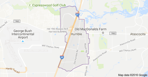 map of humble TX